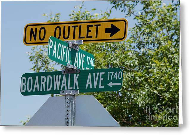 Monopoly Greeting Cards - Boardwalk Ave. Greeting Card by Phyllis Bradd