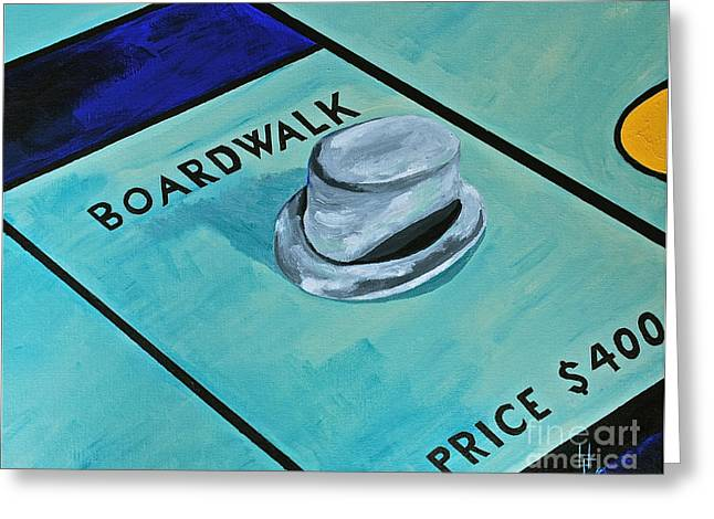 Best Sellers -  - Monopoly Greeting Cards - Boardwalk Greeting Card by Herschel Fall