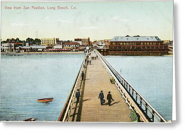 Boardwalk Greeting Cards - Boardwalk Landscape Illustration Greeting Card by Gillham Studios