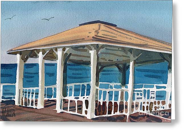 Boardwalk Greeting Cards - Boardwalk Pavillion Greeting Card by Donald Maier