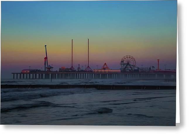 Boardwalk Pier - Wildwood New Jersey Greeting Card by Bill Cannon