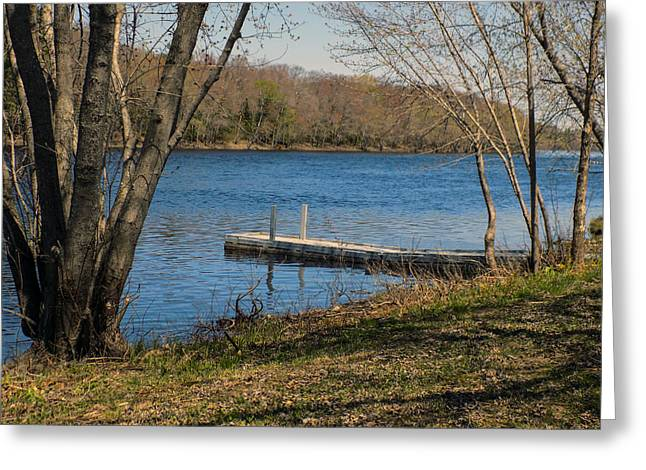 Maine Spring Greeting Cards - Boat Access Greeting Card by William Tasker