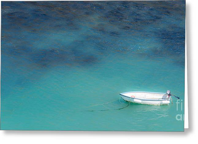 Skiff Greeting Cards - Boat At Port Isaac Greeting Card by Amanda And Christopher Elwell