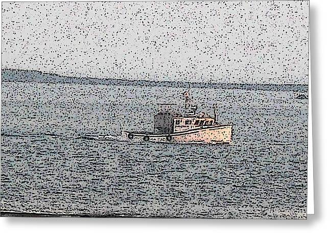 Boat City  Greeting Card by Roger Charlebois