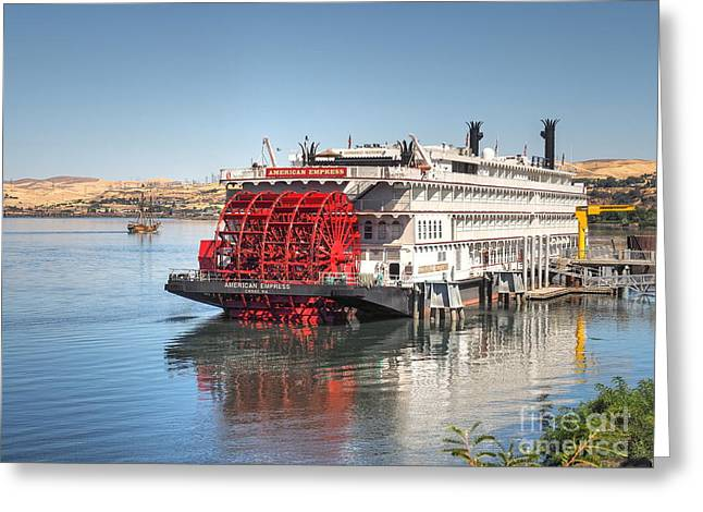 Lady Washington Greeting Cards - Boat Day in The Dalles Greeting Card by   FLJohnson Photography