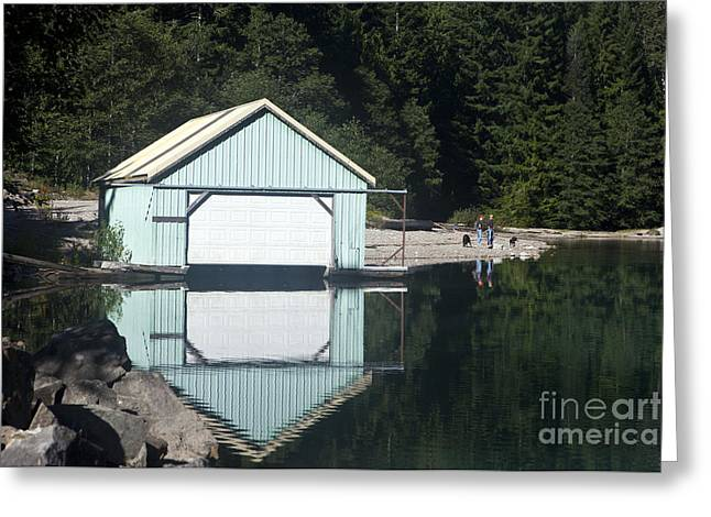 Sheds Greeting Cards - Boat House Lake Diablo North Cascades National Park Greeting Card by Jason O Watson