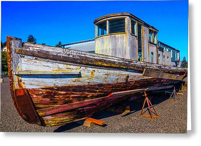 Boat In Dry Dock Greeting Card by Garry Gay