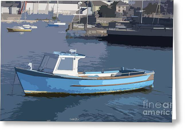 Fish Digital Greeting Cards - Boat in Plymouth Greeting Card by Sebastien Coell