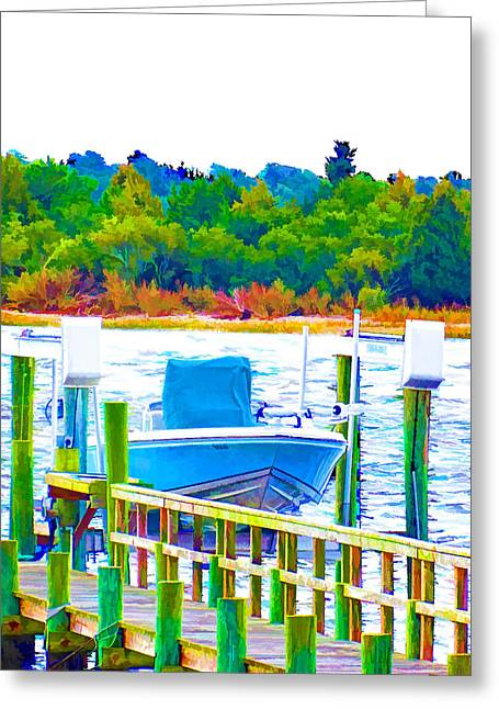 Sailboats In Water Greeting Cards - Boat In Swansboro 7 Greeting Card by Lanjee Chee