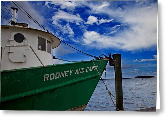 Apalachicola Greeting Cards - Boat Love Greeting Card by Toni Hopper