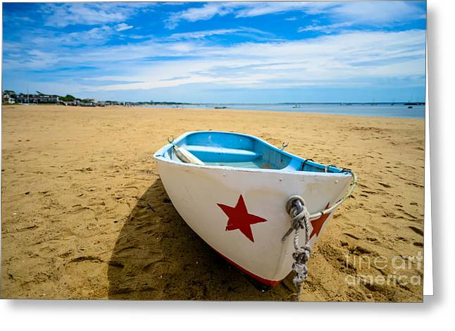 Ptown Greeting Cards - Boat Low Tide Greeting Card by Art K