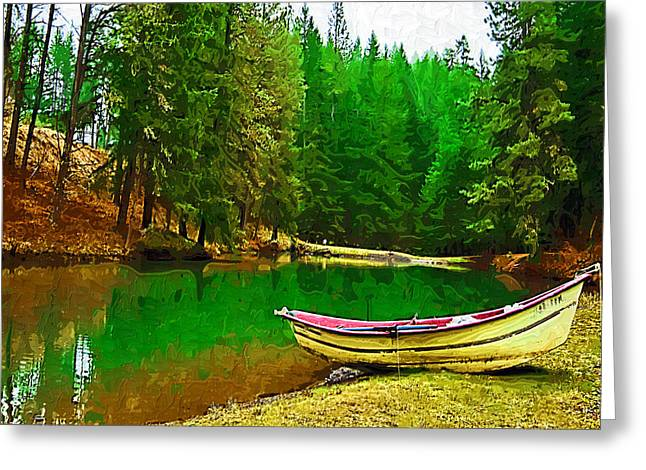 Row Boat Greeting Cards - Boat of the Lake Greeting Card by Dale Stillman