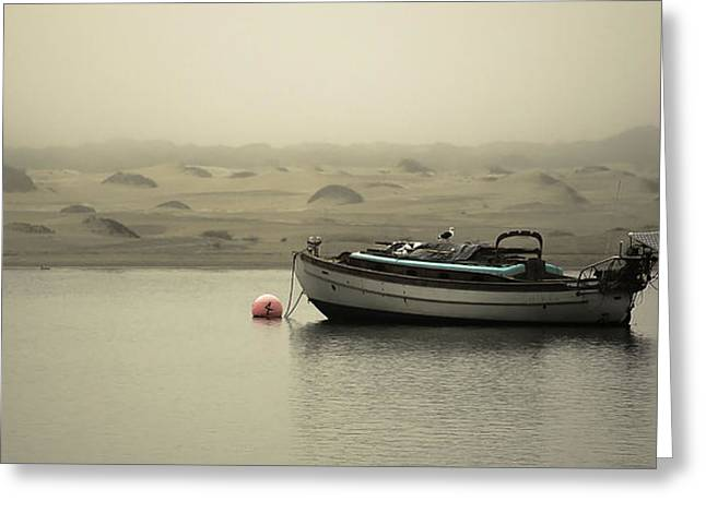Boats In Morro Bay Greeting Cards - Boat on a Bouy Greeting Card by Maureen Clark