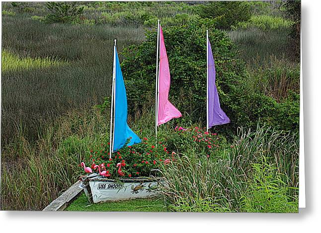 Sailboat Images Greeting Cards - Boat on land Greeting Card by David Rothbart