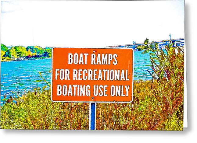 Park Greeting Cards - Boat ramps Greeting Card by Lanjee Chee