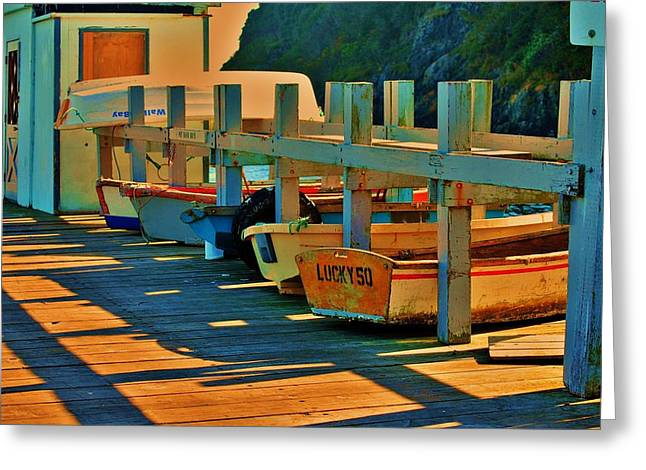 Row Boat Photographs Greeting Cards - Boat Ride Greeting Card by Helen Carson