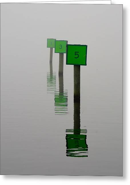 Jacksonville Greeting Cards - Boat Slips in the Fog Greeting Card by Richard Bryce and Family