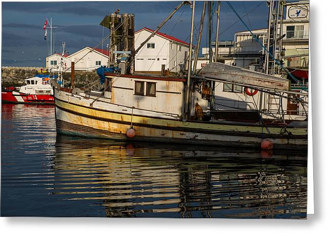French Creek Marina Greeting Cards - Boat With No Name Greeting Card by Randy Hall