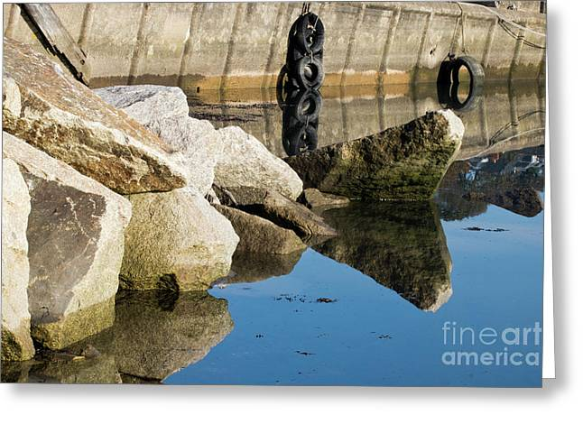 Reflections Rock Greeting Card by Terri Waters