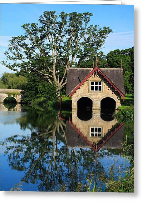 Boathouse Greeting Card by Joe Burns