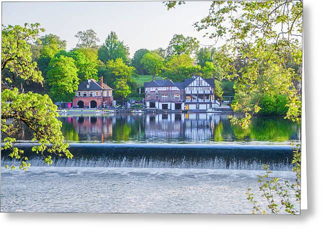 Boathouse Row - Framed In Spring Greeting Card by Bill Cannon