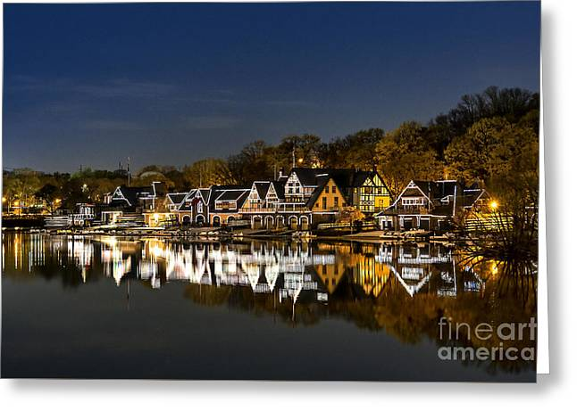 Boathouse Row Greeting Card by John Greim