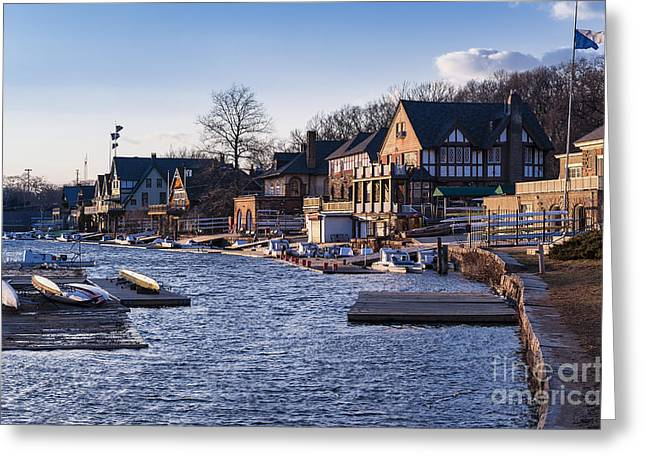 Boathouse Row Greeting Cards - Boathouse Row Philadelphia Greeting Card by John Greim