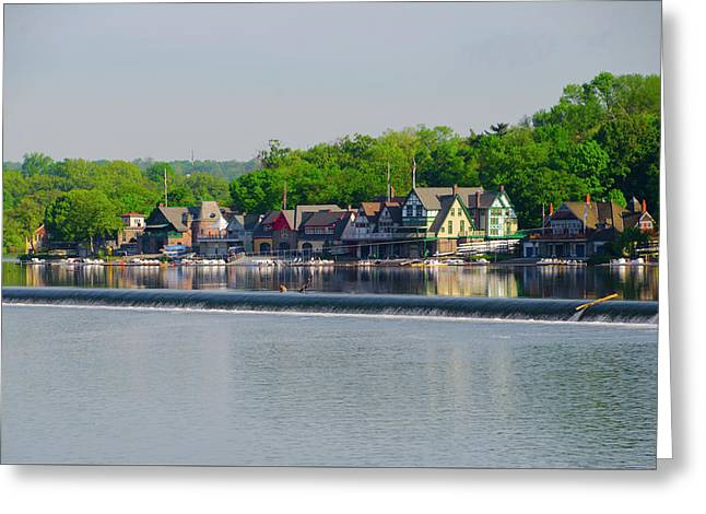 Boathouse Row - Scenic Philadelphia  Greeting Card by Bill Cannon