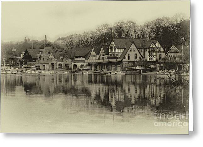 Scenic Drive Greeting Cards - Boathouse Row Greeting Card by Tom Gari Gallery-Three-Photography