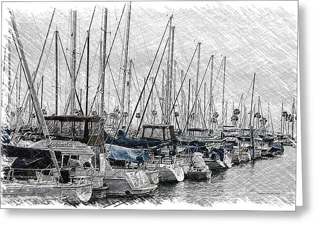 Boating Quite Time In The Harbor Pa 03 Greeting Card by Thomas Woolworth
