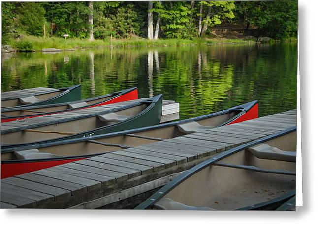 Canoe Photographs Greeting Cards - Boats 4 Greeting Card by Joye Ardyn Durham