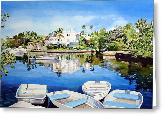 Boats At Fairyland Greeting Card by Matthew Phinn