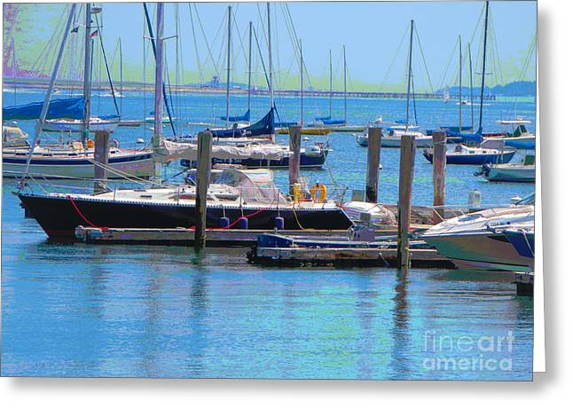 Boats Harbour Beauty Of Boston Ma Usa America Photography By Navinjoshi Fineartamerica Pixels Greeting Card by Navin Joshi