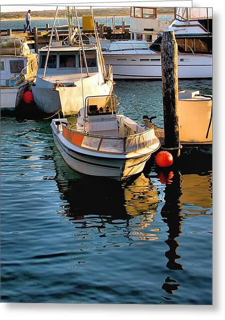 Docked Sailboats Greeting Cards - Boats in Morro Bay California Greeting Card by Bill Mollet