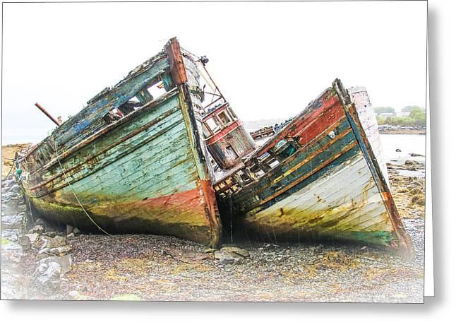Boats Isle Of Mull 4 Greeting Card by Tom and Pat Cory