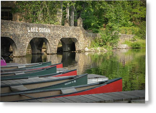Canoe Photographs Greeting Cards - Boats Greeting Card by Joye Ardyn Durham