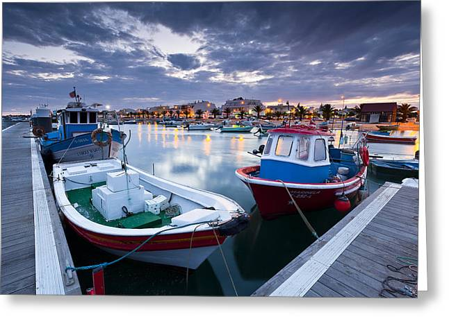 Por Greeting Cards - Boats Greeting Card by Mauricio Reis