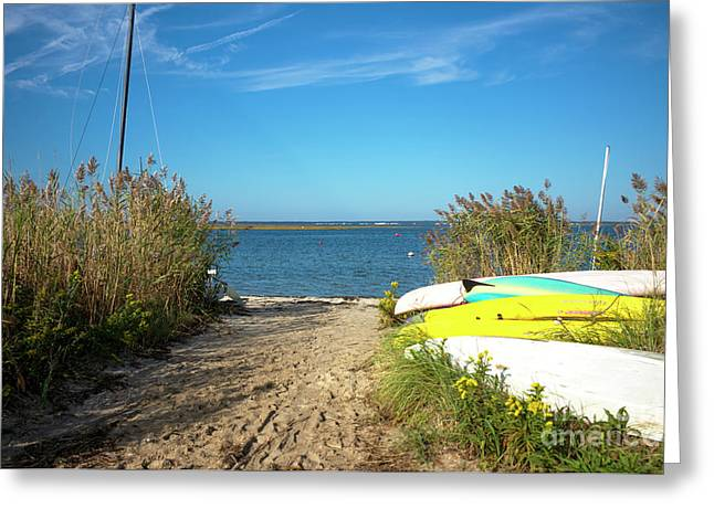 Sailboat Photos Greeting Cards - Boats on Long Beach Island 2014 Greeting Card by John Rizzuto