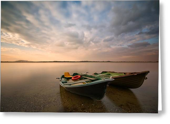 Calm Greeting Cards - Boats Greeting Card by Piotr Krol (bax)