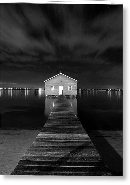 Boatshed Greeting Card by JR  Images