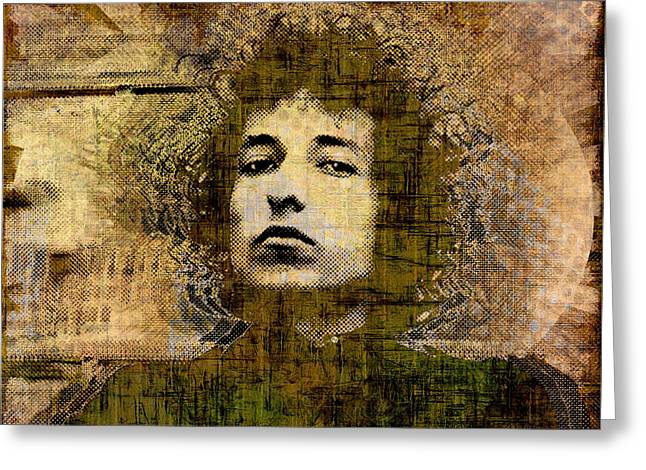 Bob Dylan 1 Greeting Card by Tony Rubino