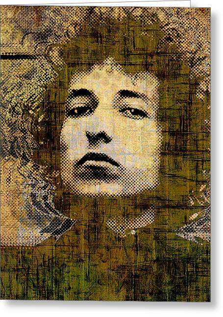 Bob Dylan Print Greeting Cards - Bob Dylan 1 Vertical Greeting Card by Tony Rubino