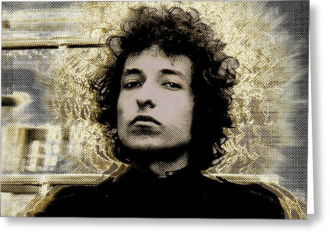 Robert Allen Zimmerman Greeting Cards - Bob Dylan 2 Greeting Card by Tony Rubino
