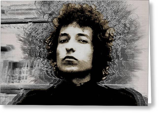Bob Dylan 4 Greeting Card by Tony Rubino