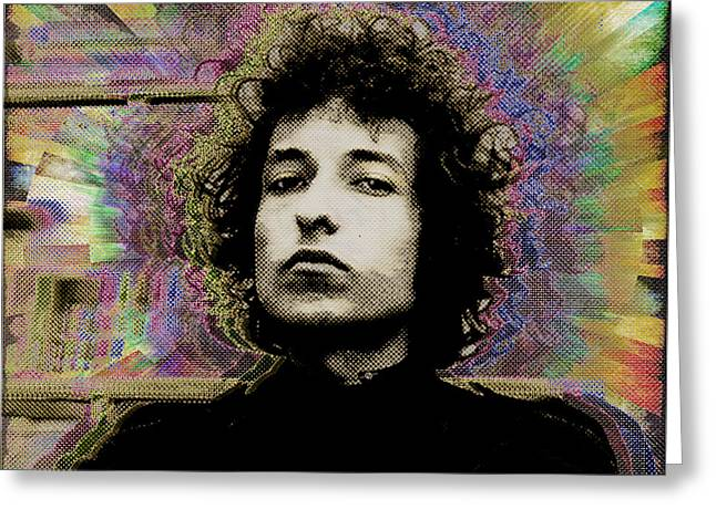 Bob Dylan Print Greeting Cards - Bob Dylan 5 Greeting Card by Tony Rubino