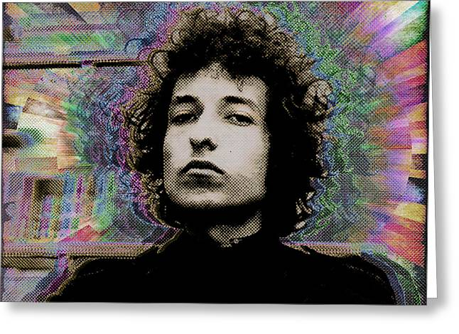 Bob Dylan Print Greeting Cards - Bob Dylan 6 Greeting Card by Tony Rubino