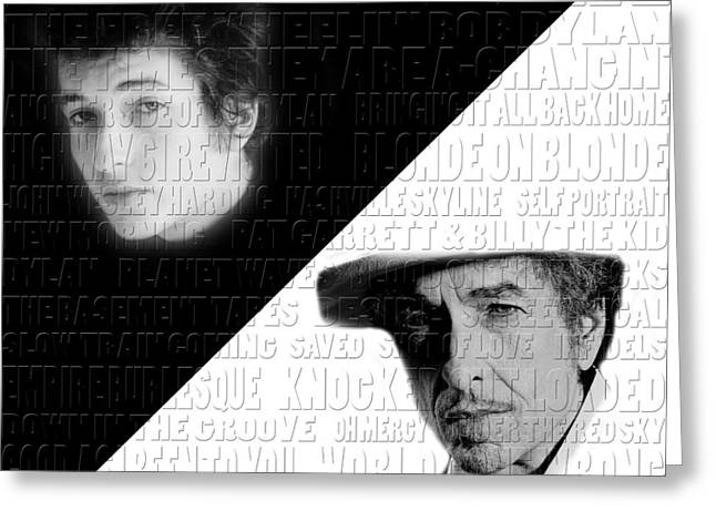 Dylan Greeting Cards - Bob Dylan Greeting Card by Andrew Fare