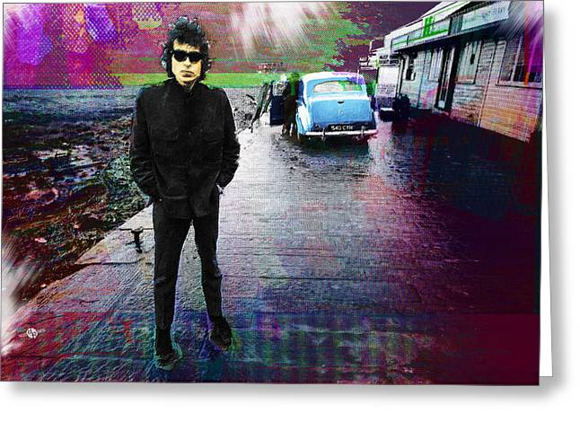 Bob Dylan No Direction Home 1 Greeting Card by Tony Rubino