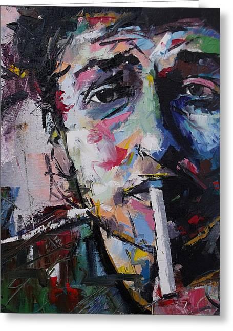 Mr. Tambourine Man Greeting Cards - Bob Dylan Greeting Card by Richard Day