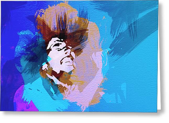 Bob Marley 3 Greeting Card by Naxart Studio